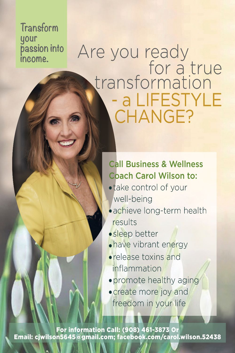 Carol Wilson – Wellness & Lifestyle Coach
